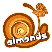 Almonds label. — Stock Vector