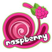 Raspberry label. — Stock Vector
