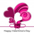 Vector abstract valentine's card background with heart. — Stock Vector