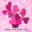 Vector de stock : Valentines card with heart.