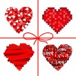 Stock Vector: Valentines set hearts.