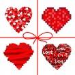 Valentines set hearts. — Stock Vector
