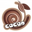 Cacao label. — Stock Vector