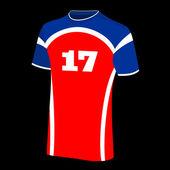 футболки спортивные изолированные. — Cтоковый вектор