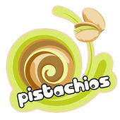 Pistachios ice cream — Stock Vector