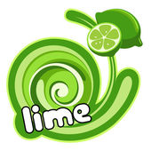 Lime label. — Stock Vector