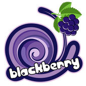 Blacberry ice cream. — Stock Vector