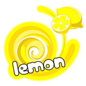 Lemon ice cream. — Stock vektor