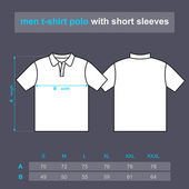 Men t-shirt polo with short sleeves. — Stockvektor