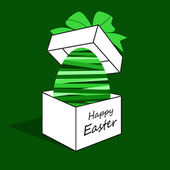 Easter egg in a box. — Stock Vector