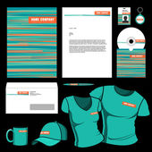 Business set of corporate templates. — Vetorial Stock