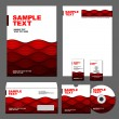 Business set of corporate templates. - Vektorgrafik