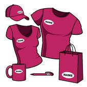 Business template. T-shirt men and women. — Stock Vector