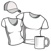 T-shirt men and women. — Stock Vector