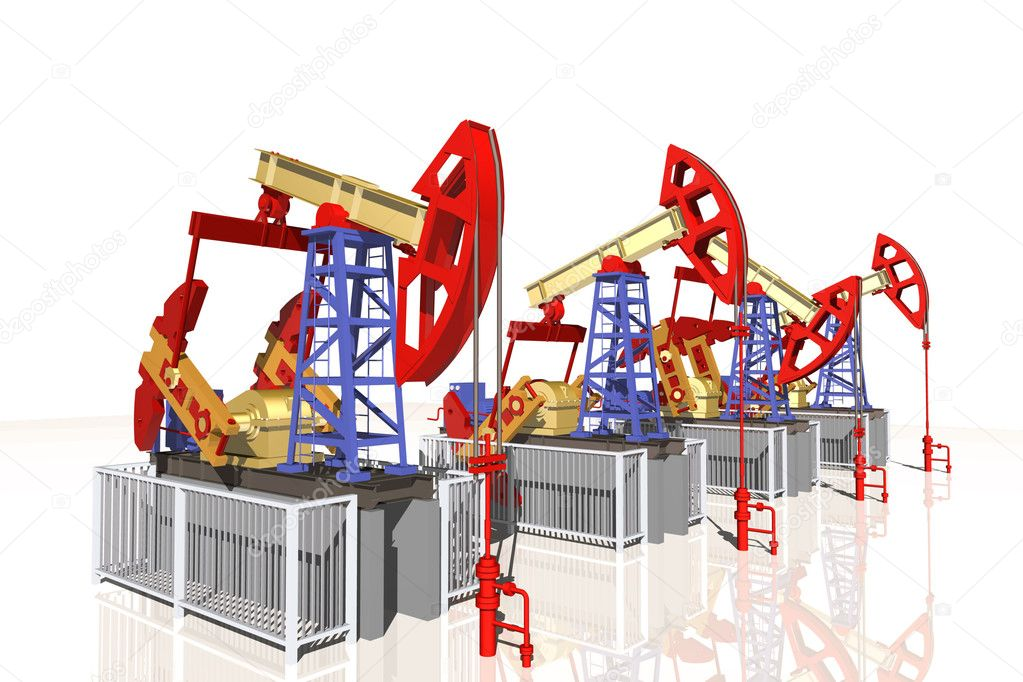 Oil pump, 3D illustration — Stock Photo #8525981