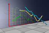Economic indicators volume illustration — Stock Photo