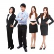 Successful Business team group crowd full length — Stock Photo