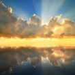 Sunset reflected in a water — Stock Photo