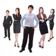 Business man and woman group in full length — Foto Stock