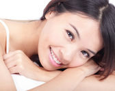 Portrait of woman smile face in relax pose — Stock Photo
