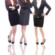 Group Of three Business women in full length — Stock Photo
