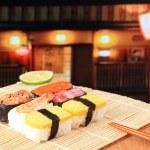 Delicious Japanese sushi — Stock Photo