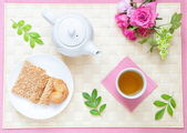 Leisurely tea time — Stock Photo
