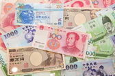 Arka plan asian para birimi — Stok fotoğraf
