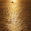 A fishing boat in golden sunset — Stock Photo #8723662