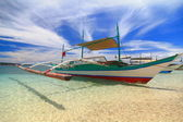 Crab boat on the sand — Stock Photo