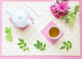Refined and leisurely tea time — Stock Photo