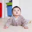 Cute Baby crawling on livingroom floor — Stock Photo #8751046