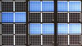 Close up of solar panel with sunshine — Stock Photo