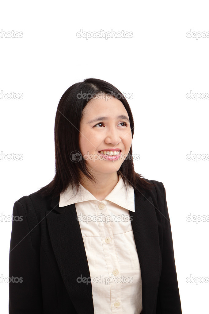 Portrait of a asian business woman smile — Stock Photo #9144464
