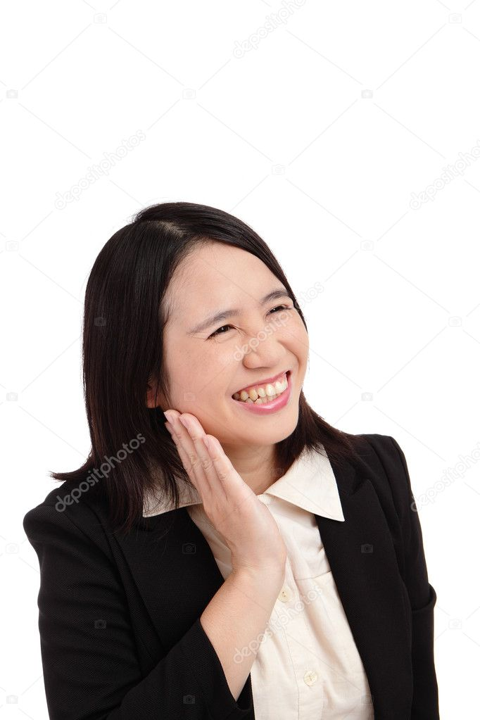 Portrait of a asian business woman smile — Stock Photo #9144477