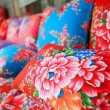 Traditional chinese cloth with flower style — Stock Photo