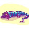Purple lizard — Stock Vector