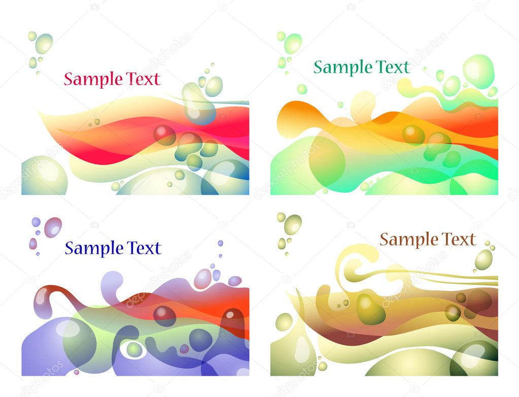 Vector illustration of abstract bubbles  Stock Vector #8562066