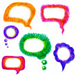 Colorful hand-drawn speech bubble vector pack — Stock Vector