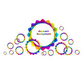 Abstract geometric rainbow circles background — Stock Vector
