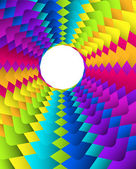 Abstract geometric rainbow circle background — Stock Vector