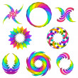 Stock Vector: Rainbow logo set for your design