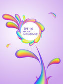 Abstract rainbow swirl flower background — Stock Vector
