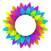 Abstract rainbow flower logo design — Stock Vector