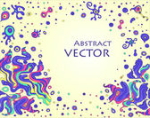 Vector doodle background with space for your text — Cтоковый вектор