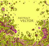 Vector doodle background with space for your text — Vector de stock