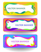 Abstract vector banner set — Stock Vector
