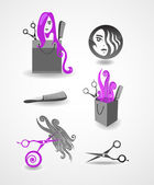 Set of elements - hairdresser — Stock Vector
