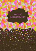 Roze en groene abstracte driehoek achtergrond — Stockvector