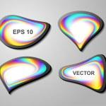 Shiny vector bubbles for speech — Stock Vector #9301111